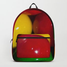 Colorful chewing gum balls. Backpack