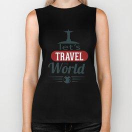 Lets Travel The World Biker Tank