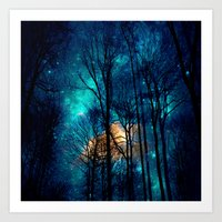 starry night Art Prints featuring starry night by haroulita
