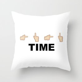Limiter Time Throw Pillow