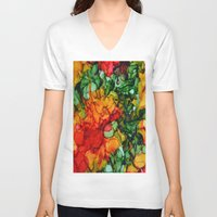 marley V-neck T-shirts featuring Marley by Claire Day