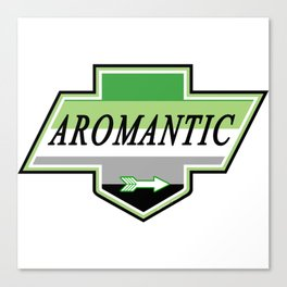 Identity Stamp: Aromantic Canvas Print