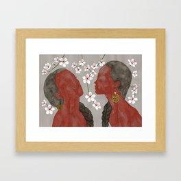 cherry blossom girls Framed Art Print