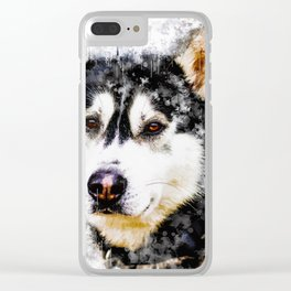 HUSKY Clear iPhone Case