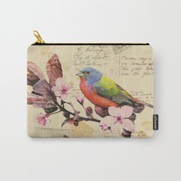Vintage illustration with bird and butterfly Carry-All Pouch
