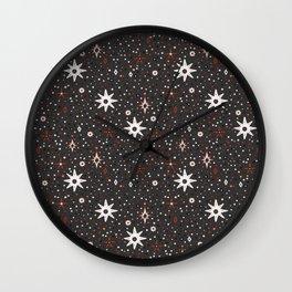 Holiday White star pattern Wall Clock