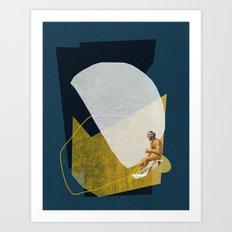 Man On The Sea Art Print