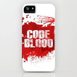 Code Blood iPhone Case