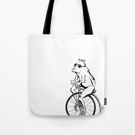 Ferdinand the Bike Riding Frog Tote Bag