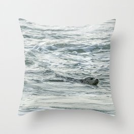 Harbor Seal, No. 2 Throw Pillow