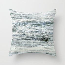 Harbor Seal, No. 2 Throw Pillow