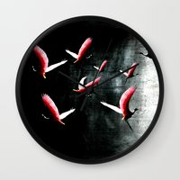 cage Wall Clocks featuring Bird Cage by Kay Weber