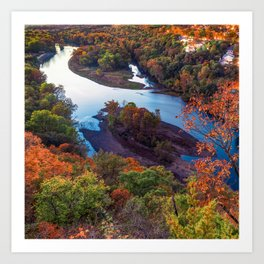 Autumn Table Rock Lake View at the Missouri Route 165 Overlook Art Print