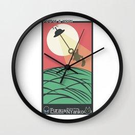 HANAFUDA(PAMPAS&MOON) Wall Clock