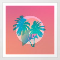 miami Art Prints featuring MIAMI by DIVIDUS