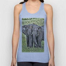 painted elephants Unisex Tank Top