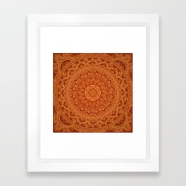 Mandala Spice Framed Art Print