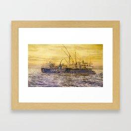 58° 73'N 151° 01'W Framed Art Print
