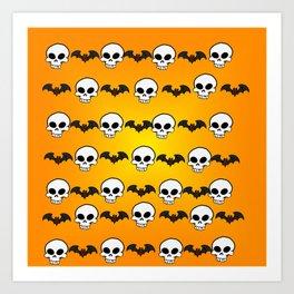 Skully Bats Art Print