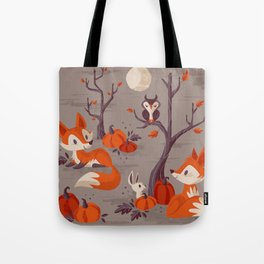 Fall Foxes Tote Bag