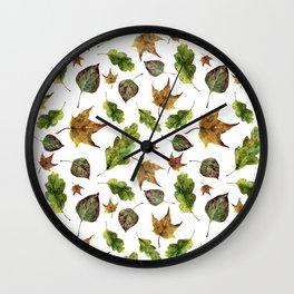 Magic of fall leaves Wall Clock