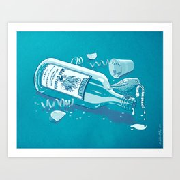 The Late Party Bird Gets the Worm Art Print