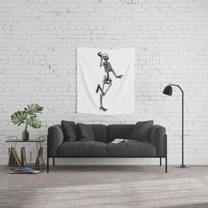 Dancing Skeleton Wall Tapestry