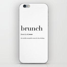 Brunch definition iPhone Skin