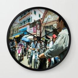 Phnom Penh Traffic Jam, Cambodia Wall Clock