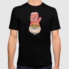 mitten owl Black MEDIUM Mens Fitted Tee