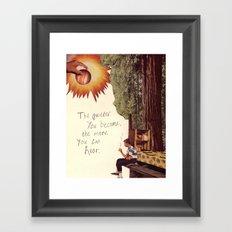 inner awareness  Framed Art Print