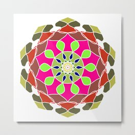 Abstract Mandala Art Metal Print