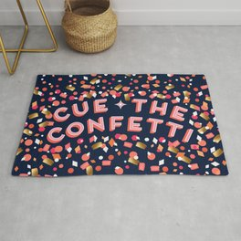 Cue the Confetti – Navy Palette Rug