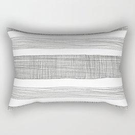 simple crosshatch stripes Rectangular Pillow