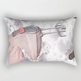 Doris Whisker - Avalanche whipped cream Rectangular Pillow