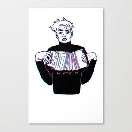 Accordion Boy Canvas Print