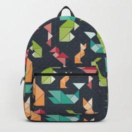 Stormy Rainbow Tangram Geometric Animals Backpack
