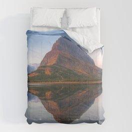 USA Glacier Crag Nature mountain Lake Parks Rock Cliff Mountains park Comforters