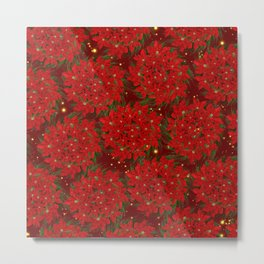 Poinsettia Pattern Metal Print