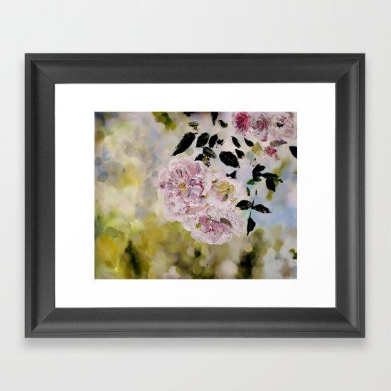 Rosy days Framed Art Print