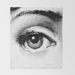 Lina Cavalieri - right eye Throw Blanket