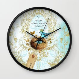 My nest is beautiful Wall Clock