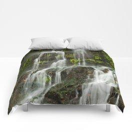 Ho Opi'i Waterfall  Comforters