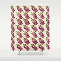 princess bubblegum Shower Curtains featuring BUBBLEGUM by SuperPills