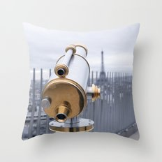 A view of Paris Throw Pillow