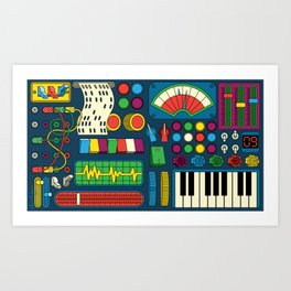 Magical Music Machine Art Print