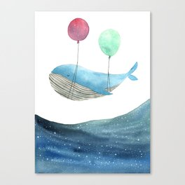 Just be happy Canvas Print