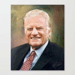 Rev. Billy Graham Canvas Print