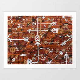 Life's Journey Pathway Road Arrows Art Print