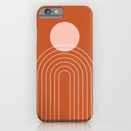 Mid Century Modern Geometric 50 in Rose Gold Terracotta iPhone Case